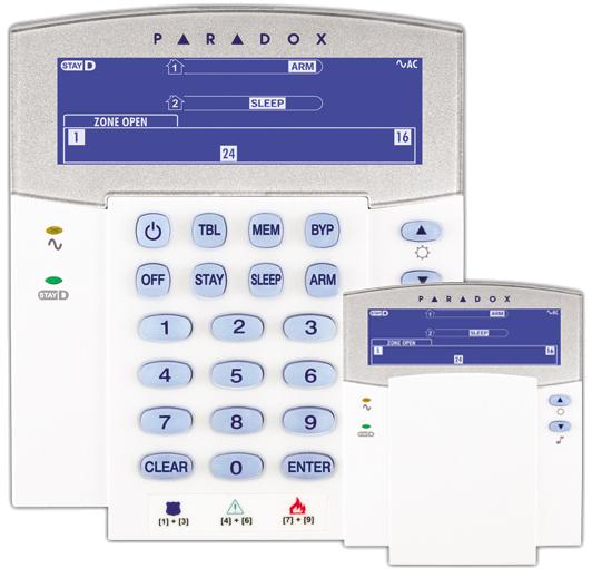 Πληκτρολόγιο LCD ICON PARADOX K35 – 32 ζωνών Image