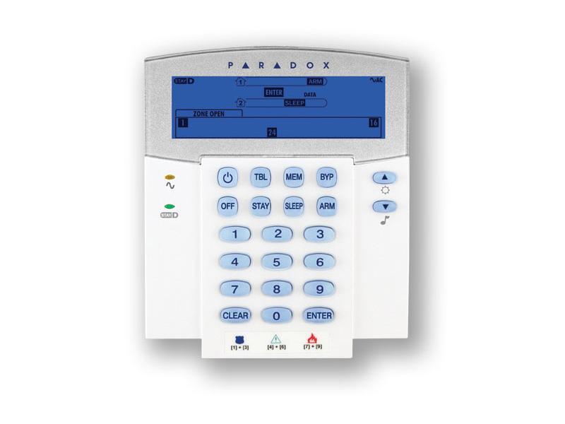Ασύρματο Πληκτρολόγιο 32 ζωνών K37 Paradox LCD Image